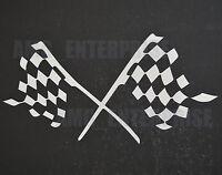 White Silver Chequered Flag Decal Sticker Vinyl for Audi A1 A2 A3 A4 A5 A6 A7 A8
