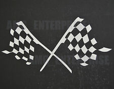 White Silver Chequered Flag Decal Sticker Vinyl for Ford Kuga Ranger Transit Car