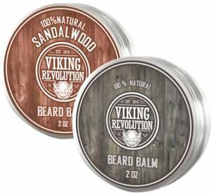 Viking Revolution Beard Balm with Argan Oil & Mango Butter for Beard & Mustache
