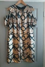 Leopard print sequin party dress 16