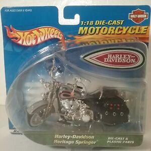 Vintage Harley Davidson Heritage Springer Motorcycle Hot Wheels 2000 Scale 1:18