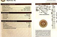 GIA loose certified .92ct I1 O-P round brilliant diamond estate vintage