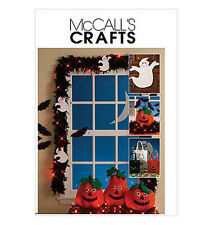 Sew & Make McCall's M5949 SEWING PATTERN - Halloween PUMPKINS GHOSTS TREAT BAGS