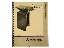 """Delta 4"""" Jointer Model 37-290  Instruction and Parts List Manual  * 849"""