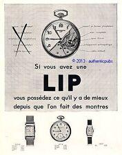 PUBLICITE LIP MONTRE GOUSSET MECANISME DE 1932 FRENCH AD ADVERT WATCH PUB