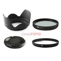 52mm UV+CPL+cap+ HOOD SET FOR nikon d3100 18-55 lens d5100 d5000 UK
