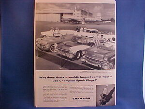 1956 Ford,Chevy,Plymouth,Cadillac,Buick convertible,Olds hdtp vintage ad w/back