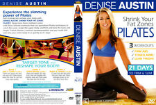 Denise Austin Shrink Your Fat Zones Pilates DVD 21 Days Slim Trim Workout