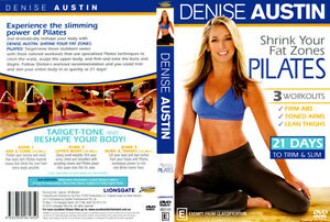 DENISE AUSTIN Shrink Your Fat Zones Pilates NEW DVD 21 Days Slim Trim Workout
