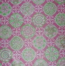 THATCHERS Les Joyaux Des Princess Printed Cotton Pink Green New Remnant