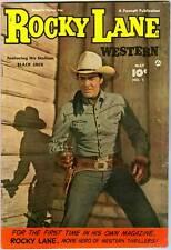 ROCKY LANE  WESTERN  # 1  - Fawcett 1949