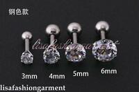 Gem Ear Stud Earring Cartilage Bar Tragus Helix Body Piercing Chic Choose Size