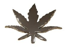 3D Weed Pot Leaf Marijuana Car Badge Emblem Decal 3M Stick On Hood Fender Trunk