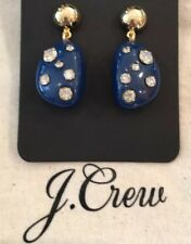 Sold Out! New$24.50 Dark Indigo J.Crew Studded Stone Drop Earrings!