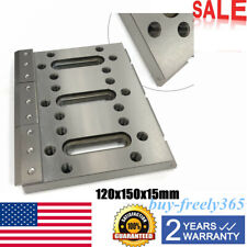 120x150x15mm Wire Cutter Cnc Edm Fixture Board Stainless Steel Jig Tool 1Pc Usa