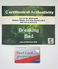 BREAKING BAD SCREEN-USED PROP - WALTER WHITE Jr's ⛽ GAS CARD W/ SONY COA