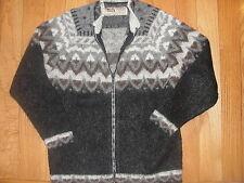 VIK WOOL by Vikurprjon Pure Icelandic Wool Sweater Women's LARGE Made in Iceland