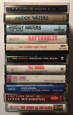 11 Blues Soul Cassette Tapes BB King Ray Charles Muddy Waters Taj Mahal EarlKing