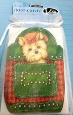 Note Cards Yorkie Terrier Puppy Dog Blank Inside 8 Cards Envelopes Voila