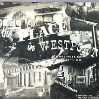1965 THE PLACE IN WESTPORT Vtg Restaurant MENU & SONGBOOK Kansas City, Missouri