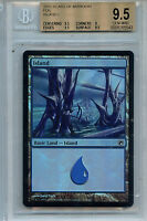 MTG  Island Land BGS 9.5 Scars of Mirrodin Foil Magic Card 5543 Amricons