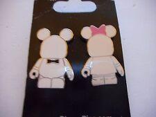 Vinylmation Jr Black Tie & Pink Bow ****NEW**** Set Of 2 Disney Pins
