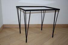 Table basse pieds Eiffel-Sellette-Bout de canapé- Vintage,  Années 50 60- Design