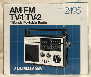 Soundesign AM/FM Portable Radio - Model 2495 - NEW NOS Vintage Boombox