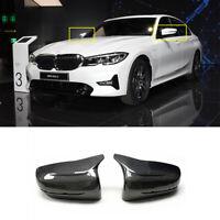 Paar Schwarz Carbon Spiegelkappen Gehäuse Außenspiegel Für BMW G20 G21 2019-2020