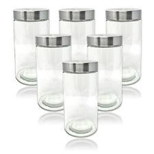 4x 1700ml Vorratsgläser Deckel Vorratsbehälter Vorratsdosen Edelstahl Glas