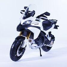 TM06WH DUCATI Multistrada 1200S Monster Diecast Model Motorcycle Bike White 1:12