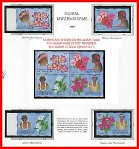 MICRONESIA 1989 FLORAL GARLANDS  mnh FLOWERS, COSTUMES