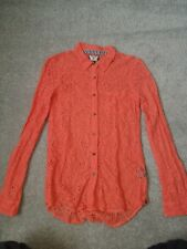 Women's Volcom. Extra small. Peach/orange lace detail top.