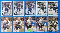 LOT OF 10 ANDREW CASSELS SIGNED HOCKEY CARDS ~ WHALERS ~ 100% GUARANTEE