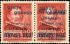 ESPAGNE / SPAIN / ESPAÑA -1937 BILBAO se-tenant varieties - Ed.10hi+10hhi **