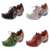 TMA 8088 echt Leder Damen Pumps Comfort Schuhe Leder Halb Schuhe Gr. 36-42