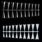 NAIL CARE NEW 500PCS POINTED STILETTO FALSE NAILS Half French Natural Clear Tips