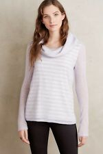Anthropologie Moth col boule à rayures Pull M