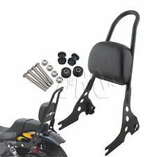 Passenger Backrest Pad Sissy Bar Cushion For Harley Iron Sportster XL1200 883