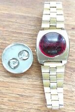 VINTAGE Mens HELBROS LED Digital Wristwatch Watch FOR PARTS ONLY!! 1976