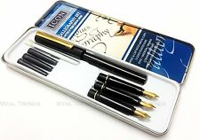 CALLIGRAPHY MASTERCLASS PEN GIFT SET WITH NIBS INK in TIN CASE
