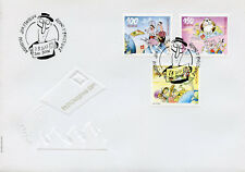 Switzerland 2017 FDC Postcrossing 3v Cover Cows Mountains Cartoons Stamps