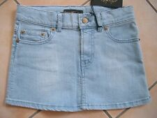 (C326) Finger in the Nose Girls Jeans Mini Rock used look + Logo Aufnäher gr.128
