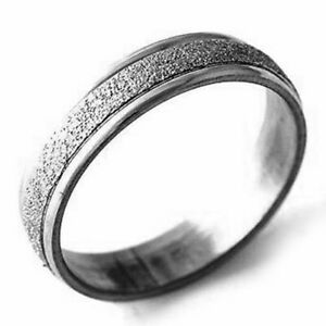 Mens Womens Band Ring Stainless Steel Rings Sandy Rings Cheap Jewelry Size 8