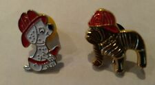 U.S.A. FIREFIGHTERS PIN BADGES. [ 2 ]