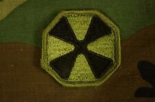 Military Patch Us Army 8th Army Korea Subdued Bdu Sew On Authentic