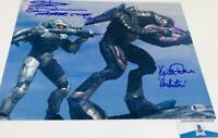Steve Downes Keith David DUAL signed HALO 11x14 photo BAS H32748