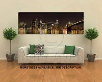 Wall Art Canvas Picture Print - New York Skyline at Night Panorama 3.1
