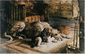 Irish Wolfhound Print, Fireworshippers
