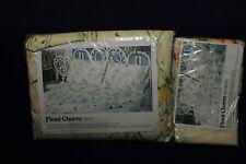 VTG NOS 70s State Pride Belk Floral Charm Beige Double flat sheet & pillow cases